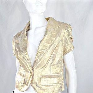 P PHOSPHORUS Gold genuine leather Jacket S/M